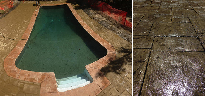 Propour Stamped Concrete Pool Deck